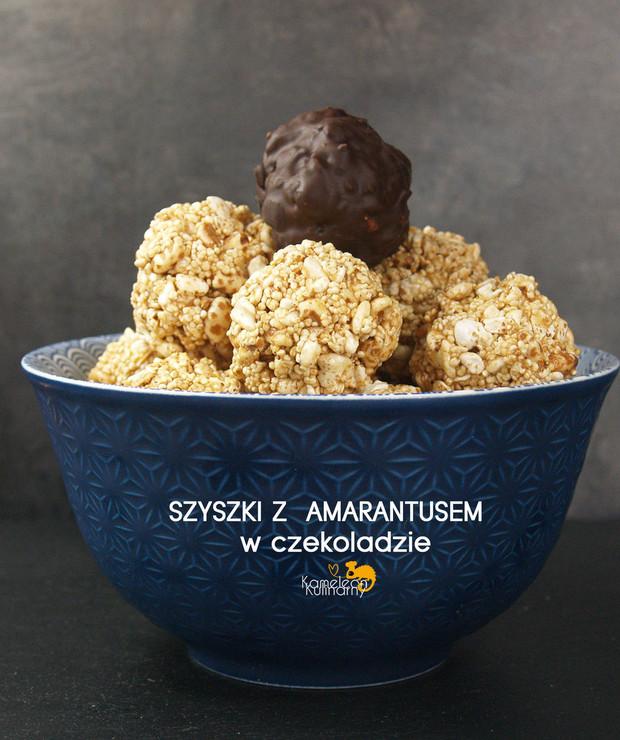 CZEKOLADOWE SZYSZKI z amarantusem - Ciastka