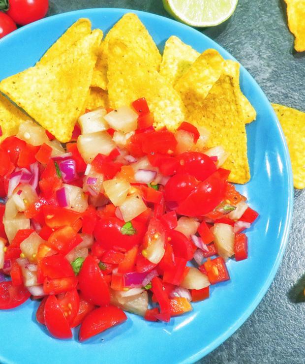 """Sałatka ananasowa """"salsa"""" - Na zimno"""