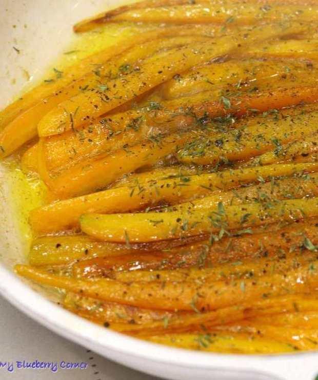 Karmelizowana marchewka - Na gorąco