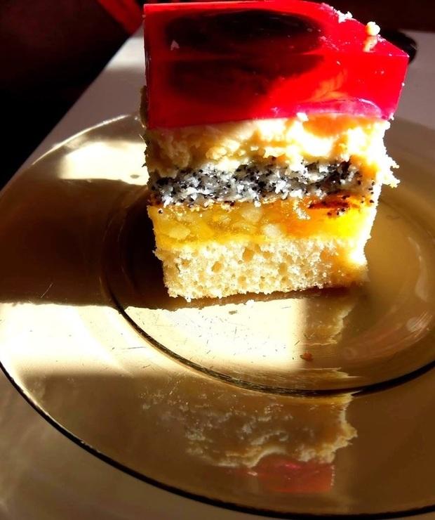 Ciasto delicja z masą jabłkową i galaretką  - Inne