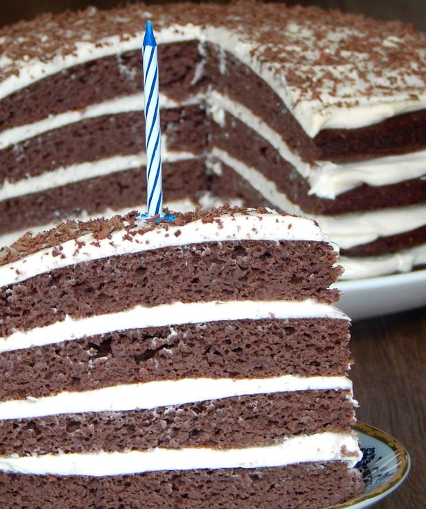 Tort czekoladowo-śmietankowy, bez cukru i glutenu | BLW - Torty