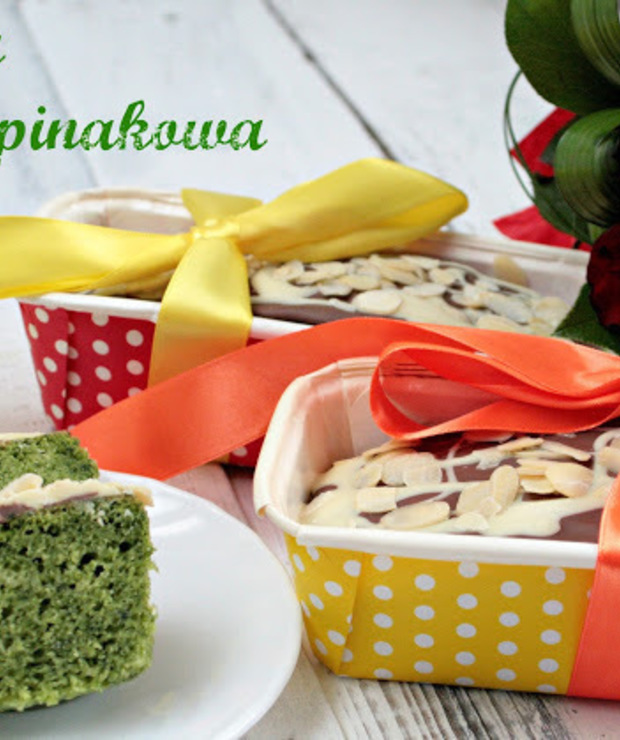 Babka szpinakowa - Muffiny i babeczki
