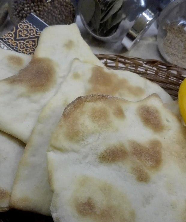 Chlebki naan - Na zimno