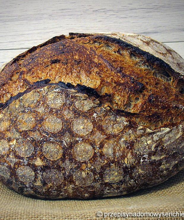 Chleb w stylu litewskim (z kminkiem i słodem) robiony metodą Tartine - Chleby