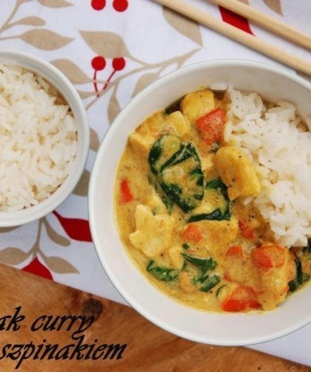 Kurczak curry ze szpinakiem - Dania z ryżu i kaszy