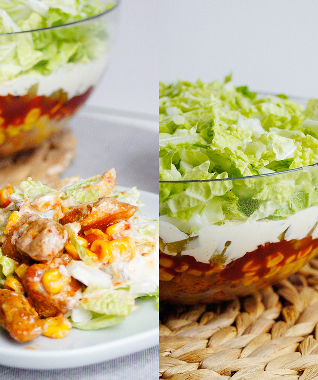 Imprezowa sałatka gyros (7 składników) - Mięsne