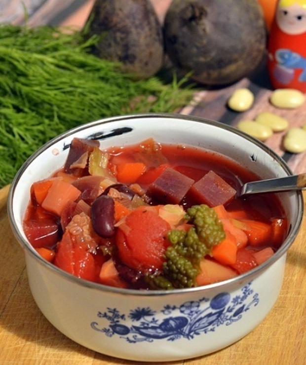Barszcz ukraiński - Z warzywami