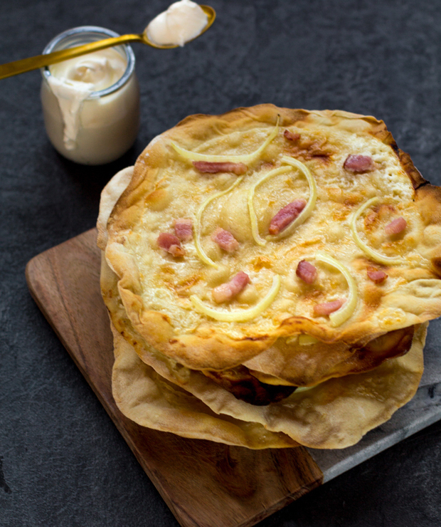 Tarte flambée / Flammkuchen - Alzackie podpłomyki - Pizza i calzone