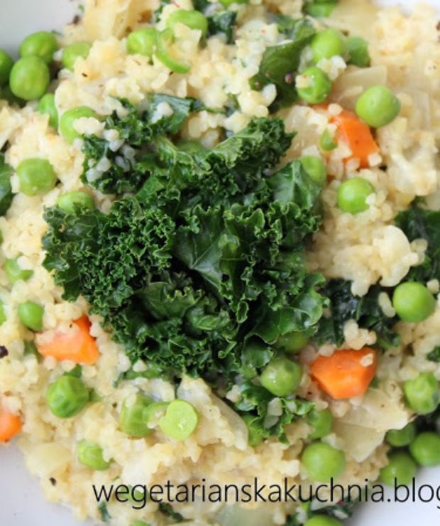 Kasza bulgur a'la risotto - Dania z ryżu i kaszy
