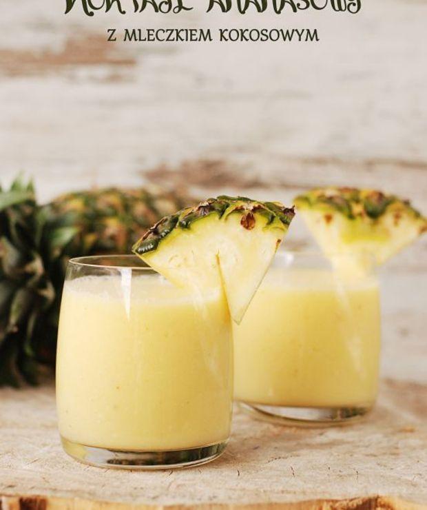 Koktajl ananasowy z mleczkiem kokosowym - Zimne