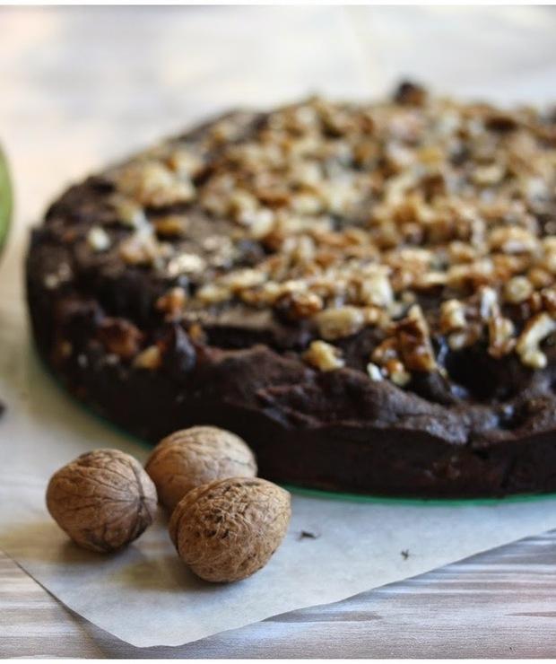Ciasto a' la Brownie z gruszkami - Ucierane