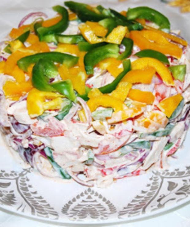 Kolorowa sałatka - Jarskie