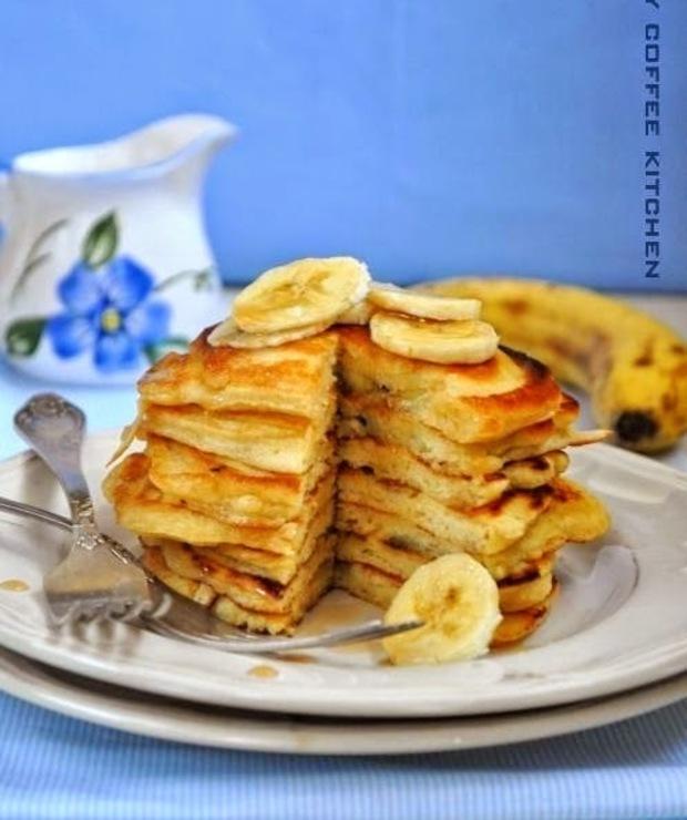 Bananowe pancakes - Jajka i omlety