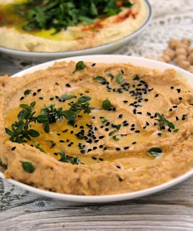 Hummus z suszonymi pomidorami  - Na zimno
