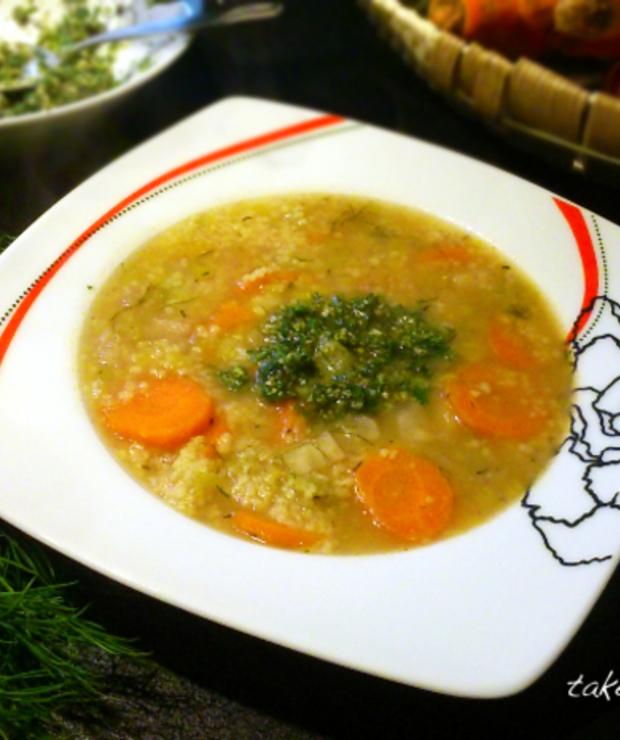 Krupnik warzywny z kaszą kuskus - Z warzywami