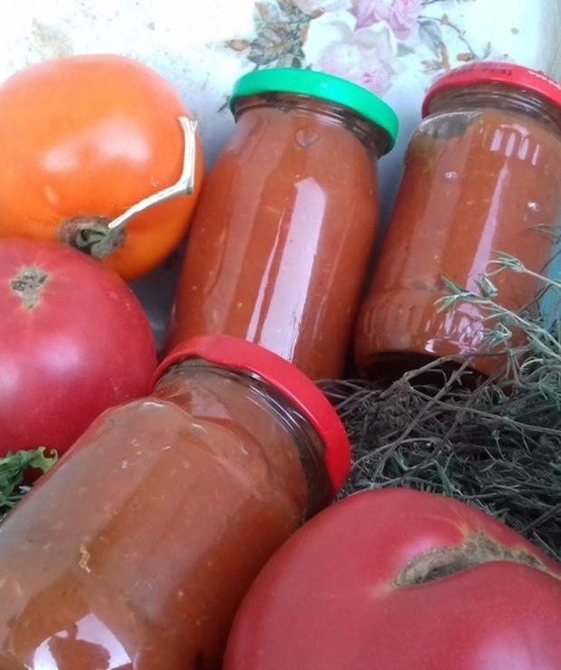 Ketchup z cukinii i pomidorów - Warzywne