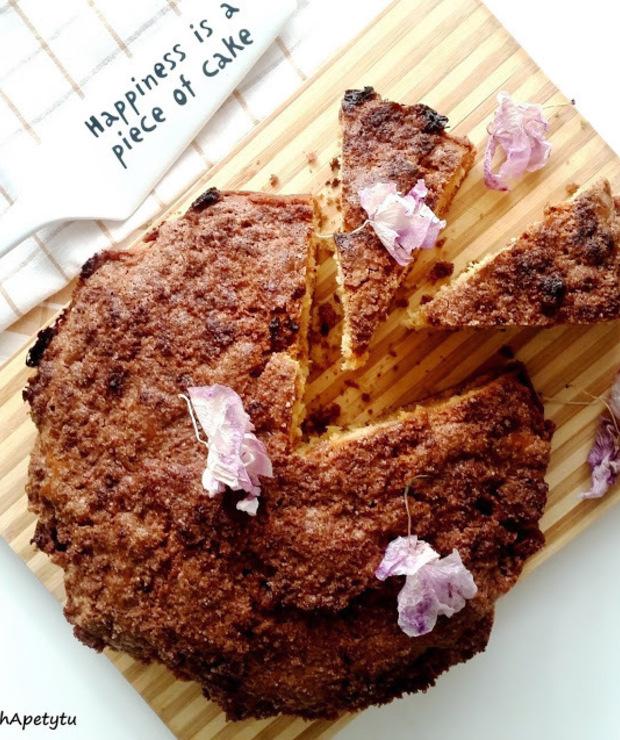 Szybkie ciasto z cynamonową skorupką - Ucierane