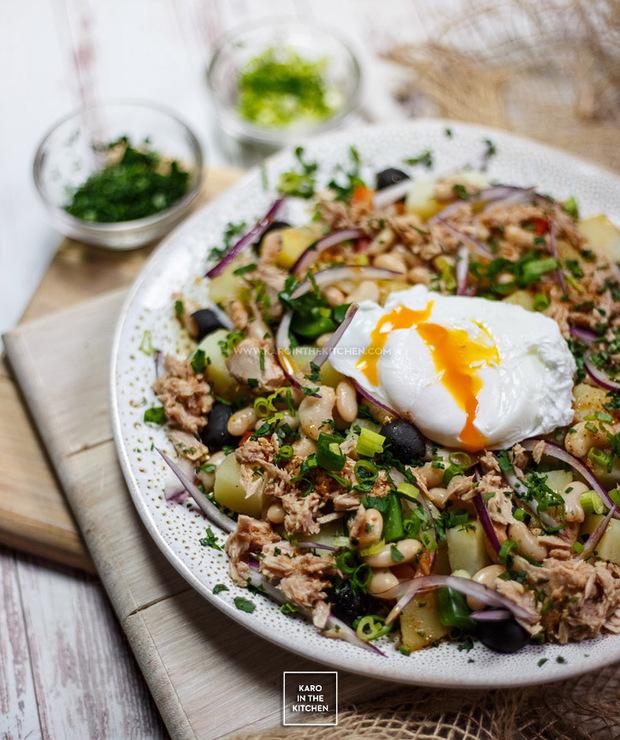 Hiszpańska sałatka z fasoli, tuńczyka i ziemniaków - Tuńczyk