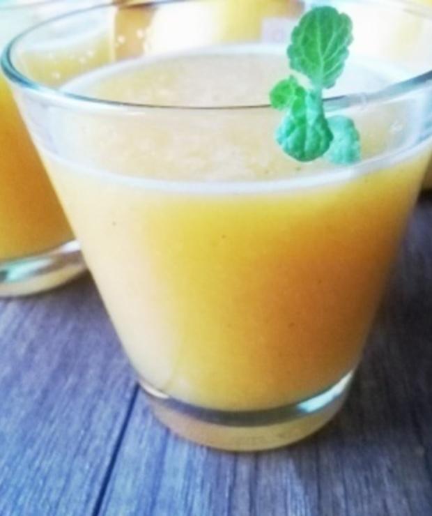 Sok pomarańczowo-dyniowy z miętą - Zimne