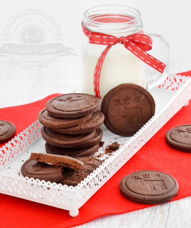 Kakaowe ciasteczka maślane - Ciastka