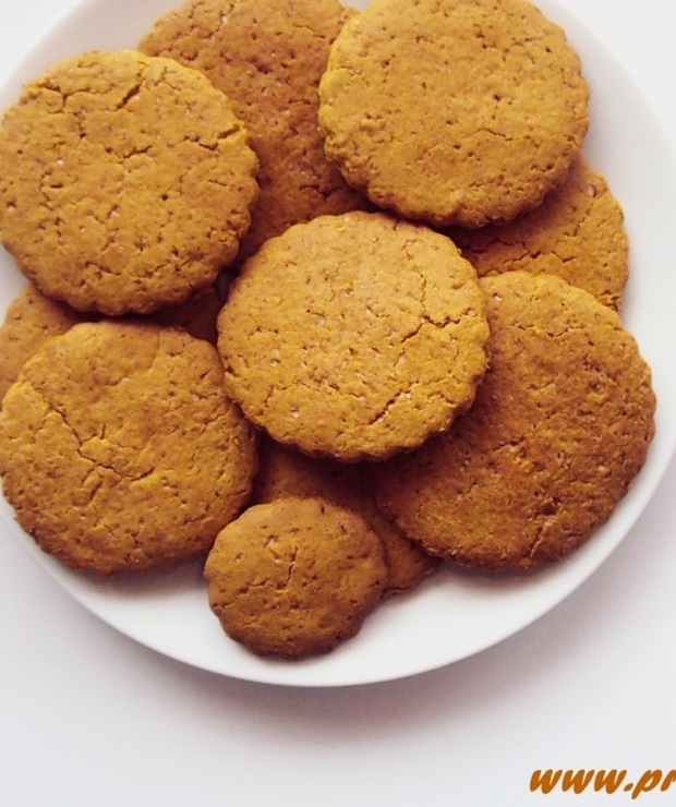 Kruche cytrynowe ciastka z melasą z morwy ( bez glutenu i masła ) - Bezglutenowe