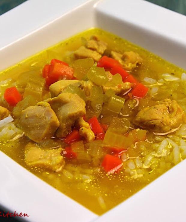 Drobiowa zupa curry - Z warzywami