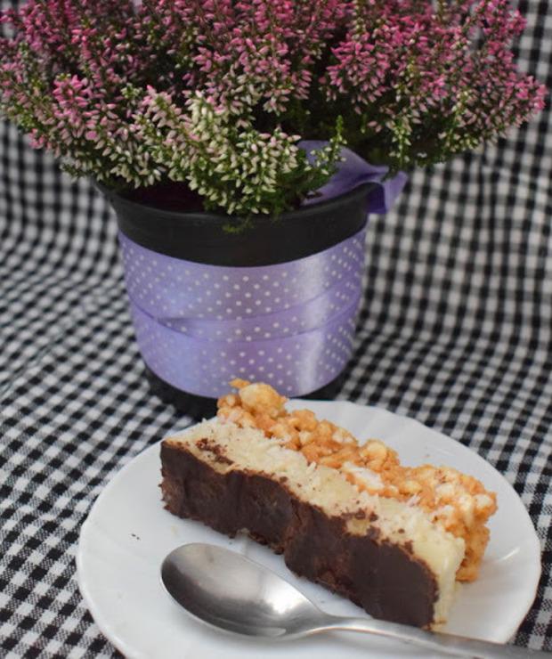 Przepis #90 Kokosowy FIT  snikers - bez pieczenia  - Desery i ciasta