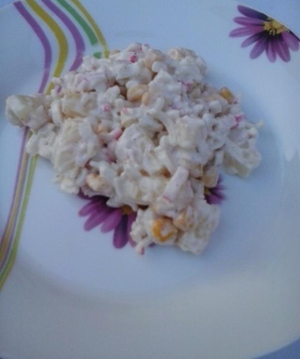Sałatka z paluszków surimi - Mięsne