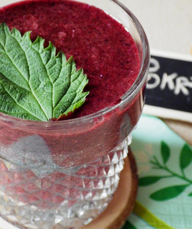 Koktajl quinoa + pokrzywy + leśnie jagody - Bezglutenowe