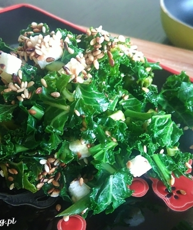 Jarmużowa sałatka wakame – są takie dziwy, ale tylko w Kuchni Biegacza ;) - Surówki