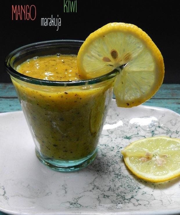 Koktajl z mango, kiwi i marakui - Zimne