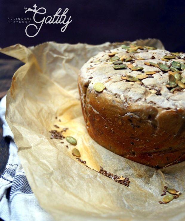 Chleb pszenno-żytni na zakwasie z ziarnami - Chleby