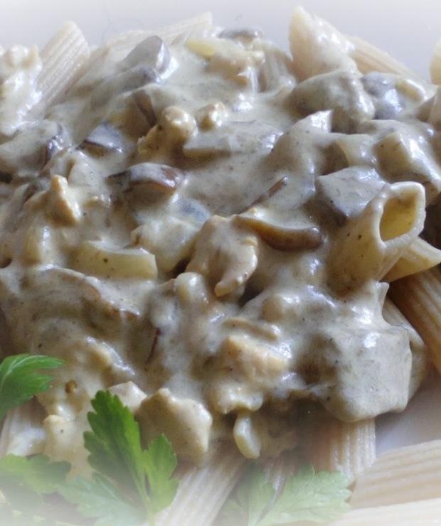 Sos grzybowy z kawałkami kurczaka - Dodatki