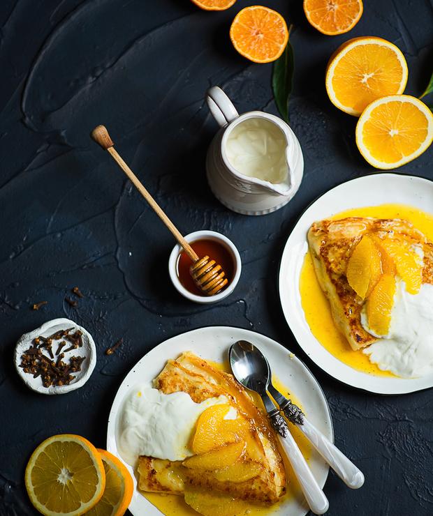 Crepes suzette - francuskie naleśniki z pomarańczami  - Placki i placuszki