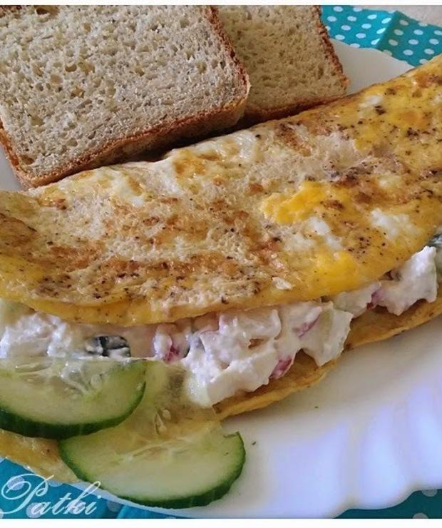 Wiosenny omlet - Jajka i omlety
