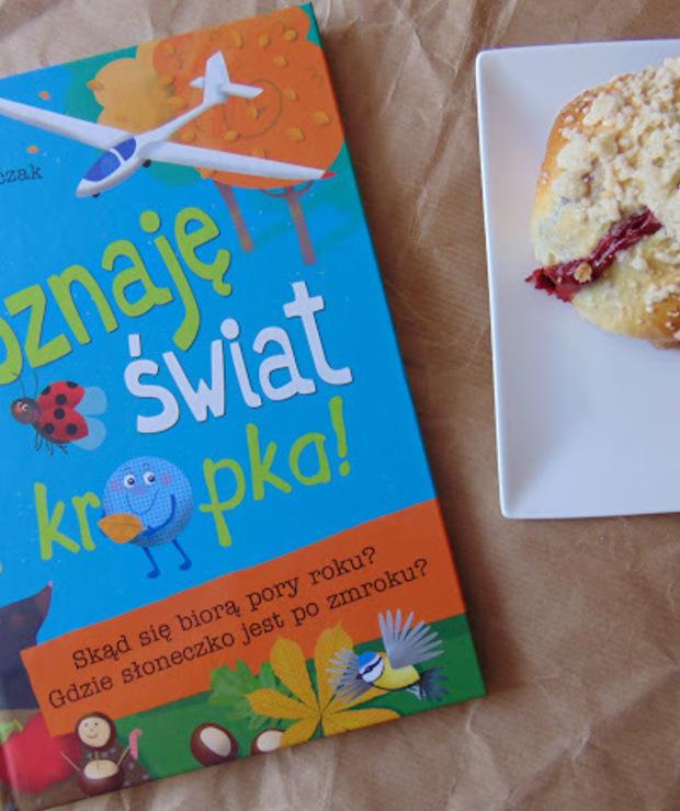 Recenzja książki Poznaję świat i kropka ... a takze przepis na pyszne bułeczki z truskawkami. - Drożdżówki