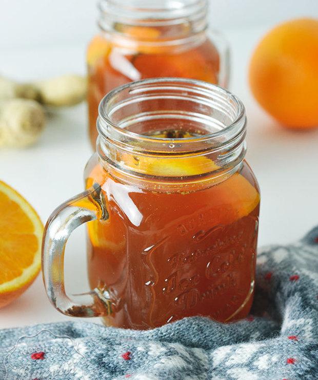 Herbata zimowa z imbirem - Gorące