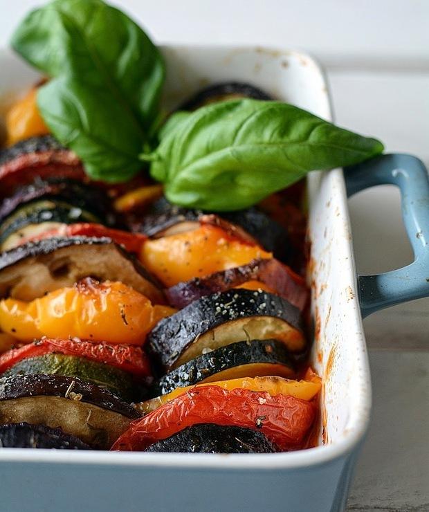 pieczone warzywa z ziołami (ratatuja) - Na gorąco