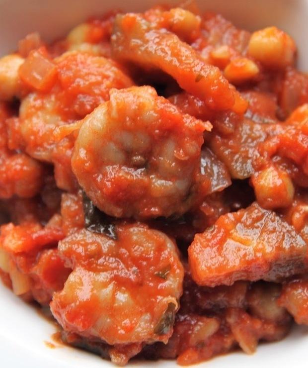 Potrawka z cieciorki z krewetkami - Krewetki