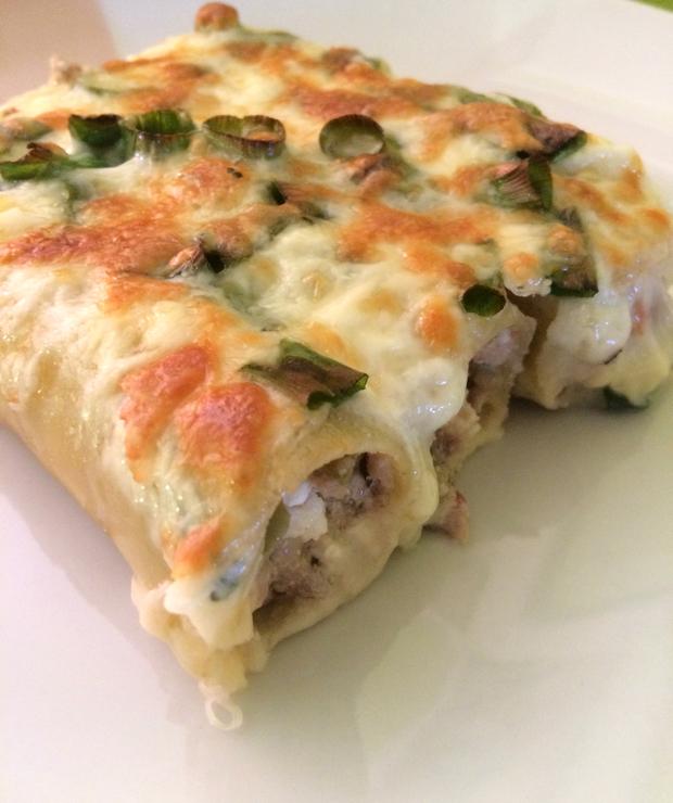 Cannelloni z suszonym pomidorem i serem feta - Dania z makaronu
