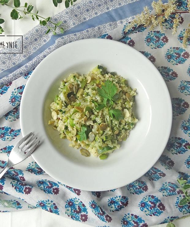 Kasza bulgur na zielono - Dania z ryżu i kaszy