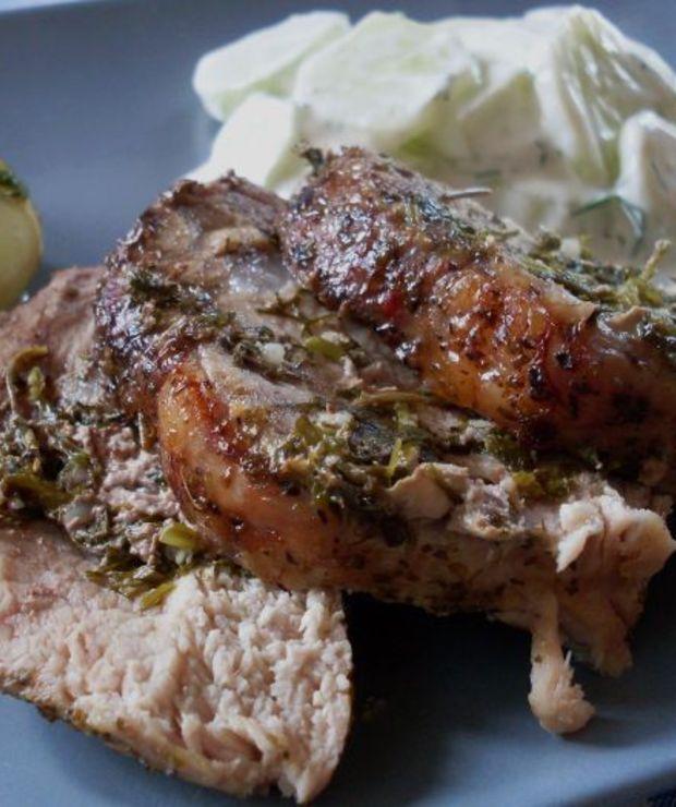 Schab pieczony w ziołach - Wieprzowina