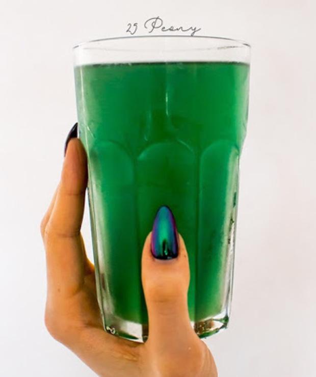 cytryna lub limonka + spirulina + woda - Zimne