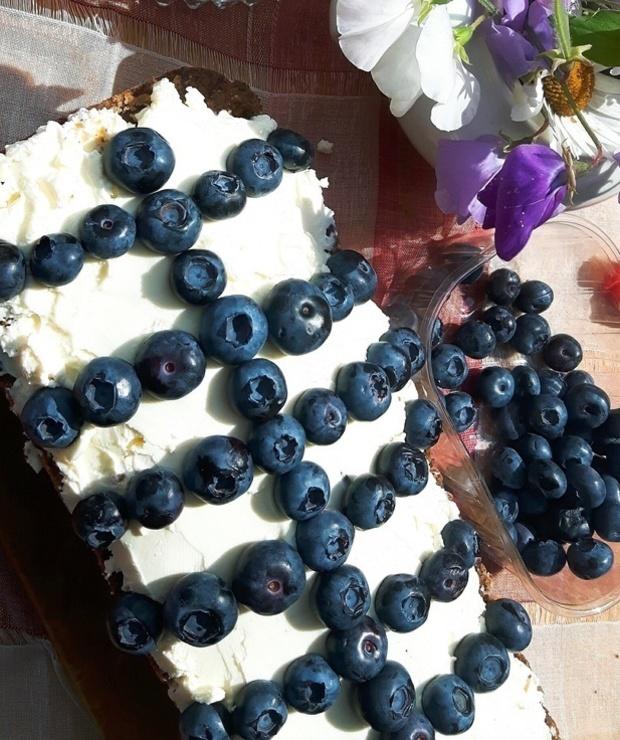 Ciasto z makiem, mascarpone i borówkami - Inne
