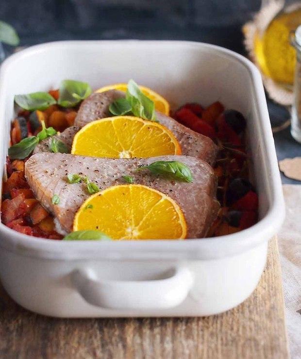 Steki z tuńczyka po prowansalsku / Tuna provencale - Tuńczyk