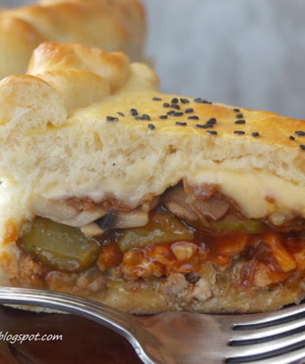 Ciasto a'la cheesburger-hit imprezy - Pizza i calzone