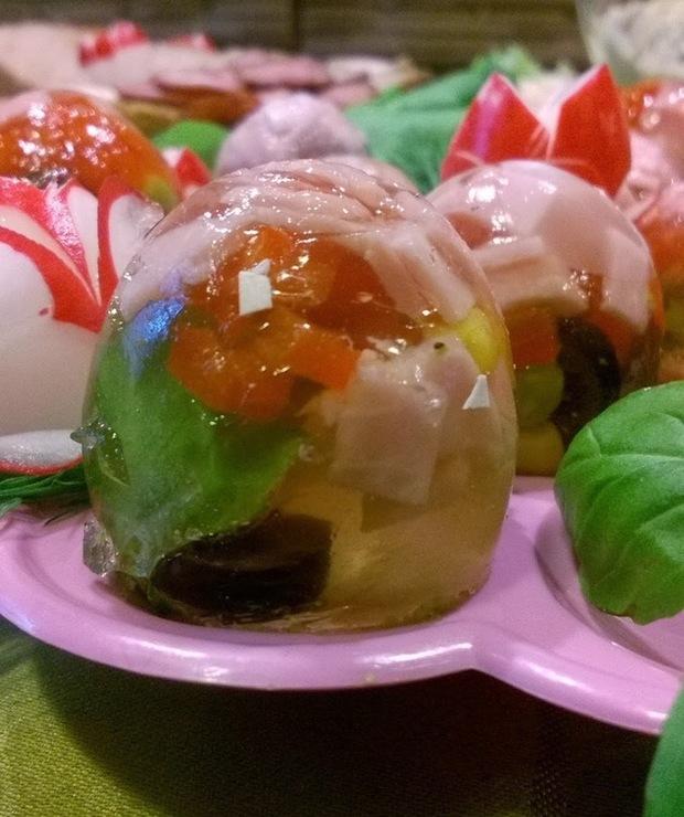 Galaretkowe jajka - Na zimno