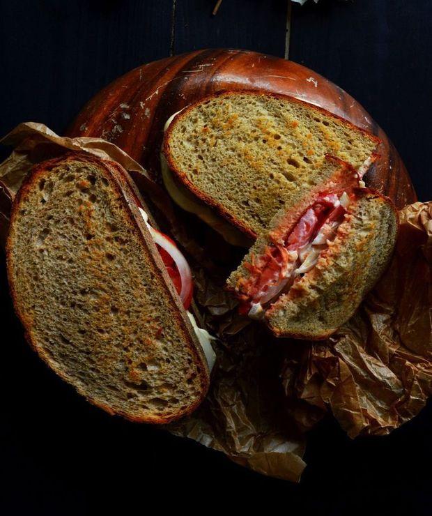 Kanapka podwójnie pomidorowa - Kanapki i tosty
