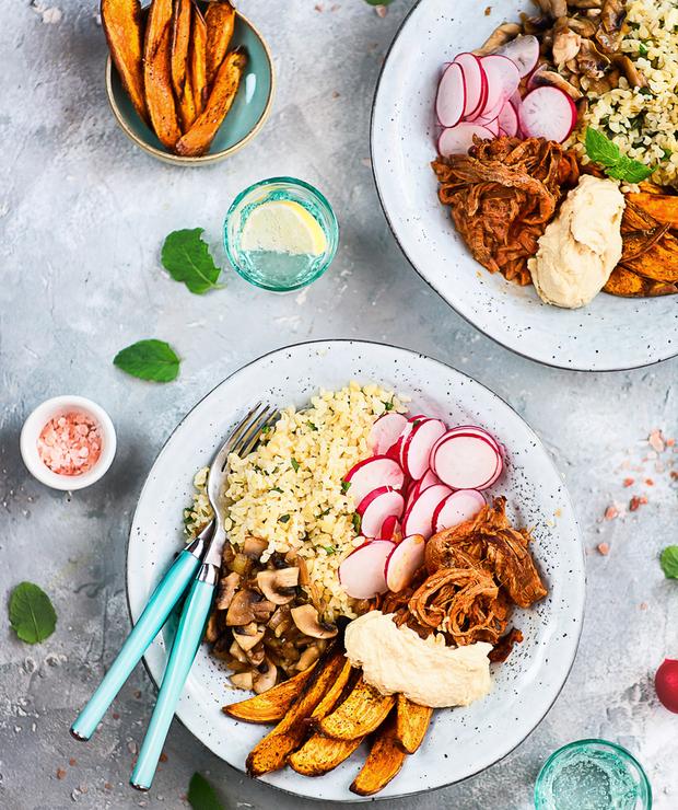 Szybki I Zdrowy Obiad Bulgur Z Dodatkami Pieczarkami Rzodkiewka
