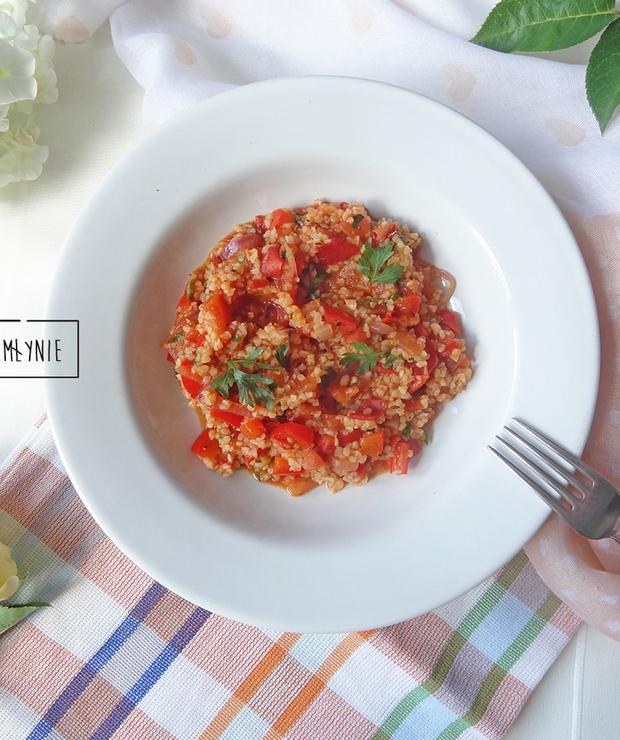 Kasza bulgur na czerwono - Dania z ryżu i kaszy